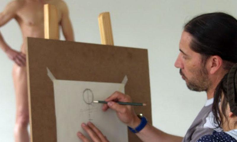 Taller-de-dibujo-de-la-figura-humana-con-modelo.-